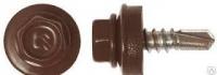 Саморез кровел. цинк. 5,5х19 шокол-коричнев(250шт)