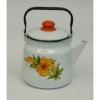 Чайник эмал. 3,5 л белый с декором (Магнитогорск)