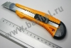 """Нож """"STAYER"""" с выдвиж. лезвием, упроч., 18 мм"""